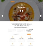 Cafe & Restaurant Joomla  Template 55591