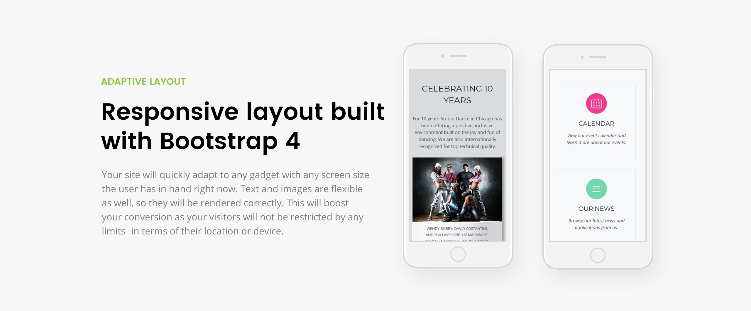 Dance Studio - Special Education Clean HTML5 Landing Page Template