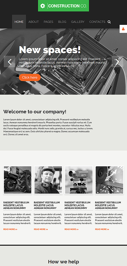 Joomla Theme/Template 55597 Main Page Screenshot