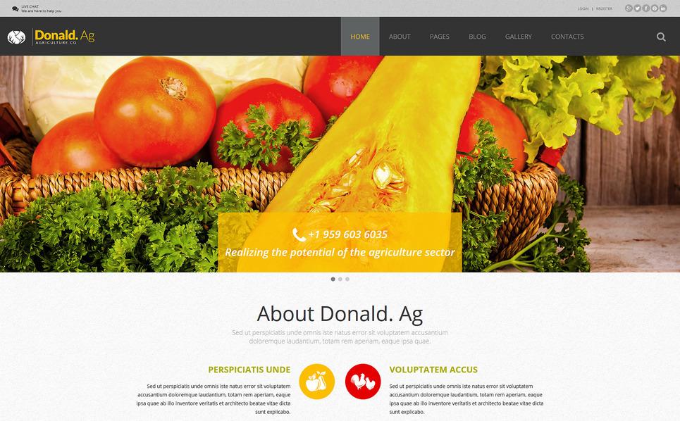 Responzivní Joomla šablona na téma Zemědělství New Screenshots BIG