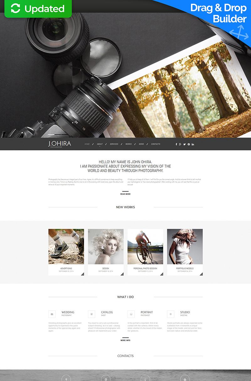 Адаптивний MotoCMS 3 шаблон на тему портфоліо фотографа  №55537