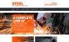 Адаптивный HTML шаблон №55571 на тему металлургическая компания New Screenshots BIG