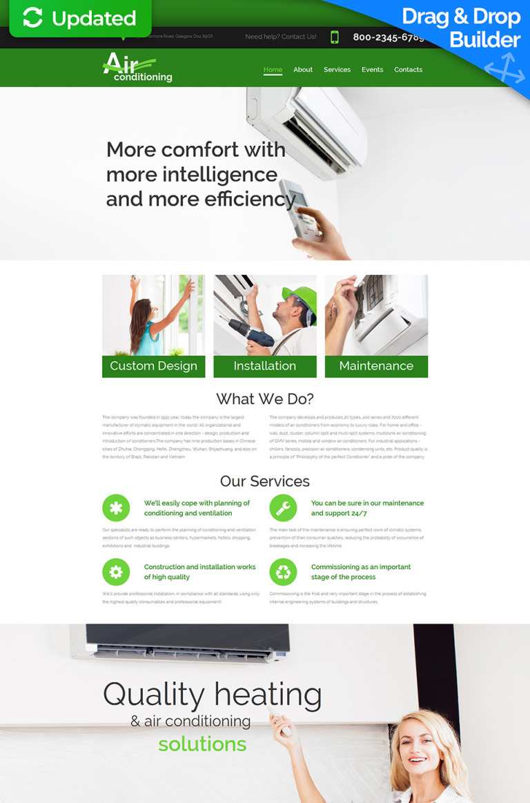 Air Conditioning Responsive Moto CMS 3 Template New Screenshots BIG