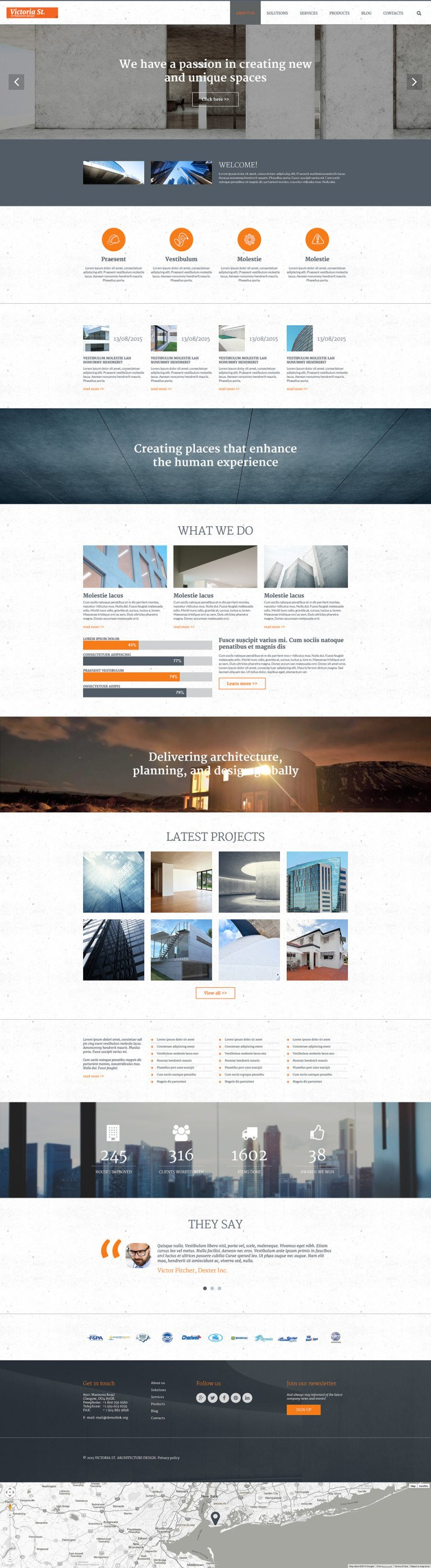 Architecture Design Joomla Template New Screenshots BIG