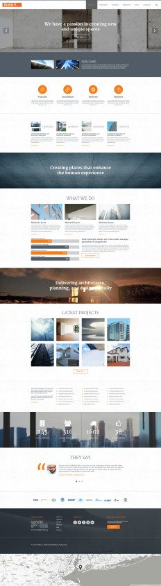 Architecture Design Template joomla architecture templates | template monster