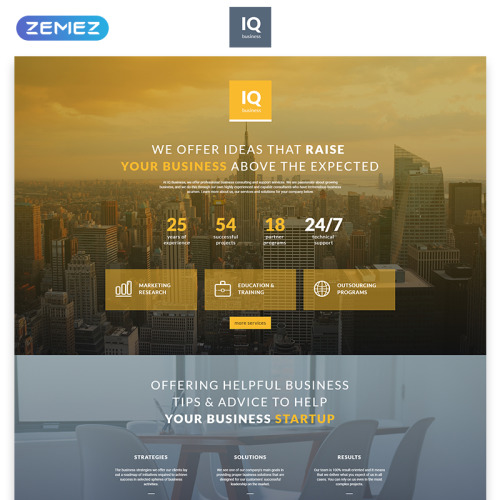 IQ - Responsive Landing Page Template