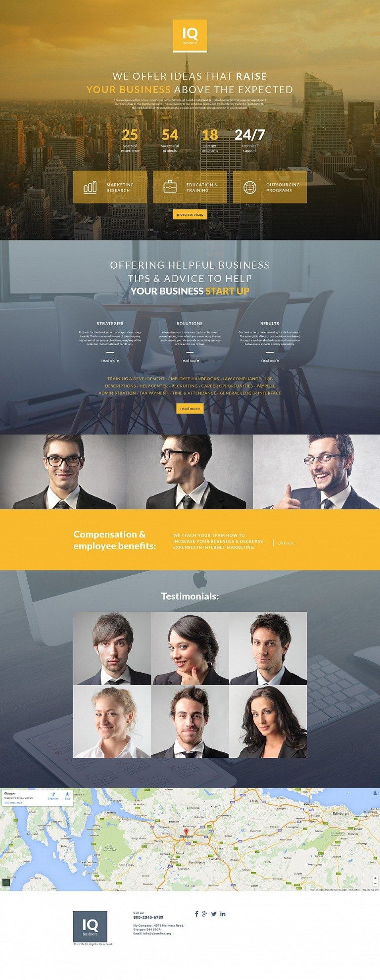 Business Responsive Moto CMS 3 Template New Screenshots BIG
