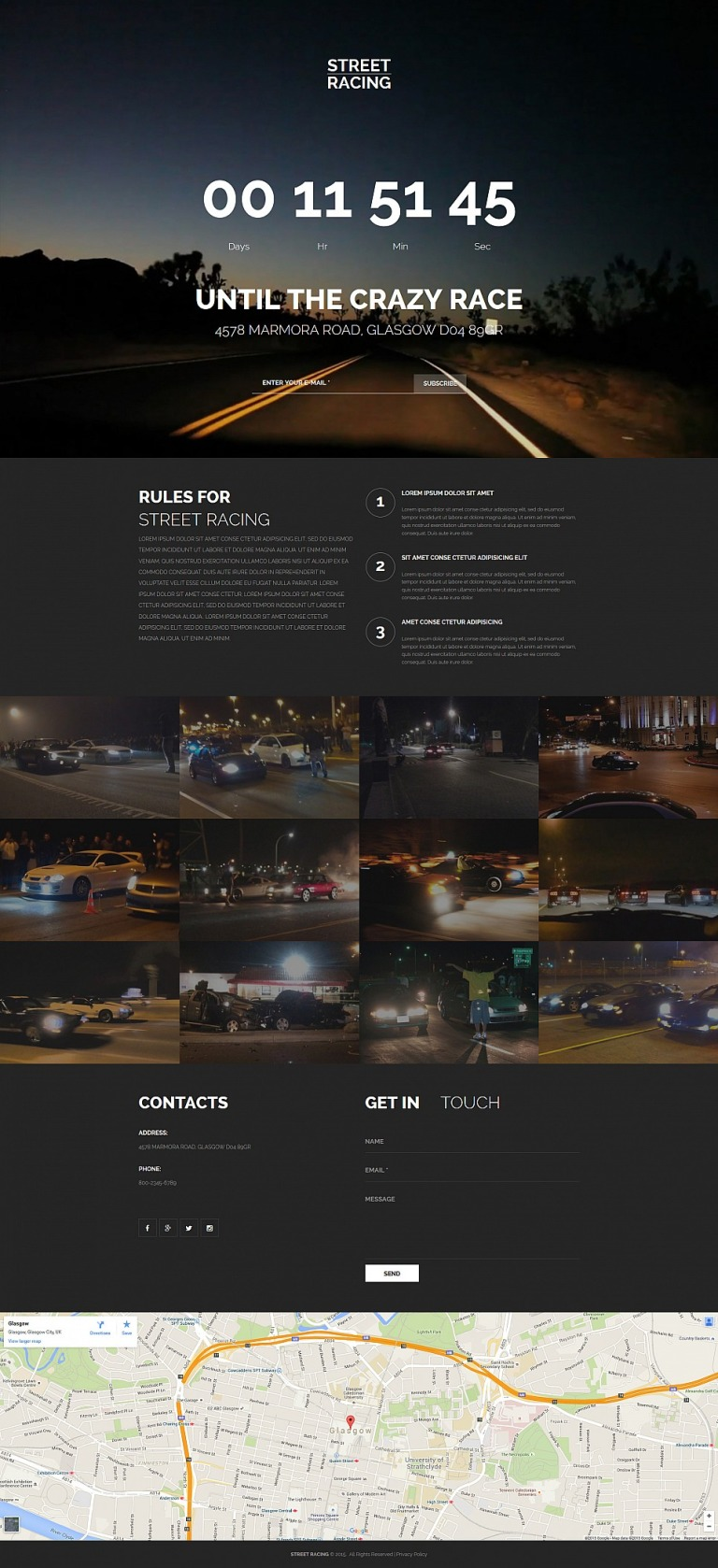 Car Racing Responsive Moto CMS 3 Template New Screenshots BIG
