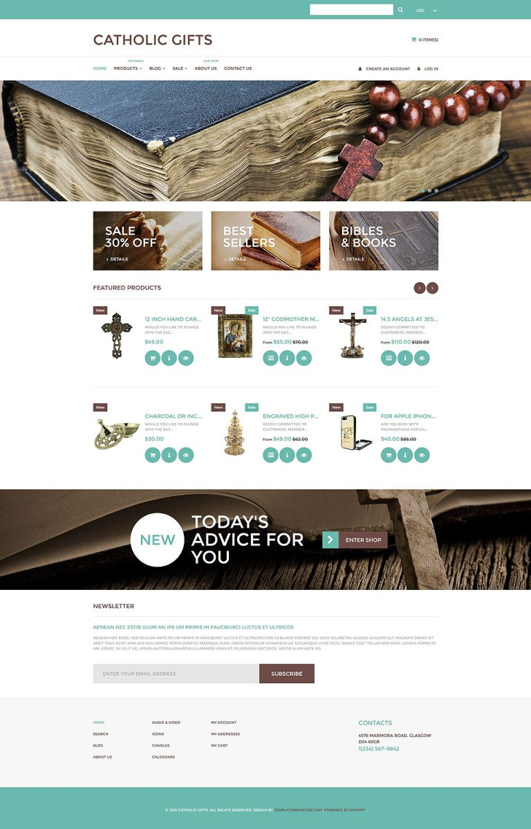 Catholic Church Responsive Shopify Theme New Screenshots BIG