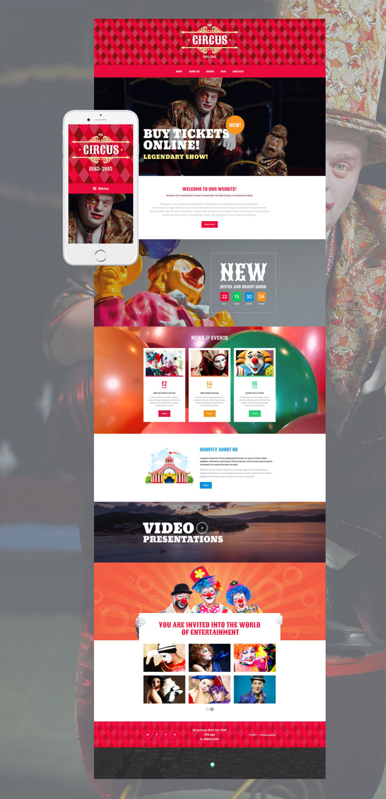 Circus Tent WordPress Theme New Screenshots BIG