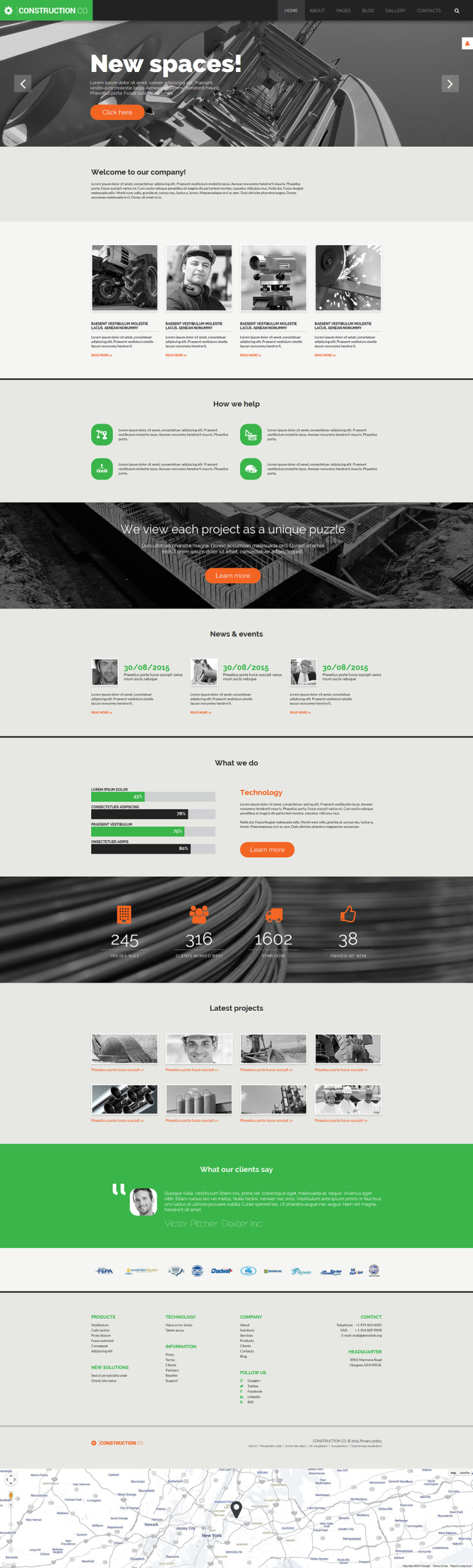 Construction Co Joomla Template New Screenshots BIG