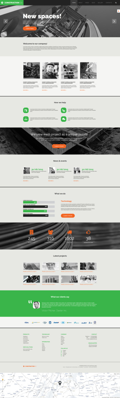 Construction Co Joomla Template