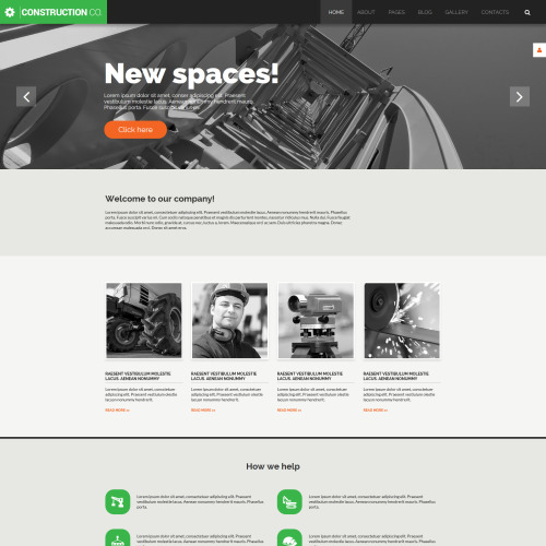 Construction Co - Joomla! Template based on Bootstrap