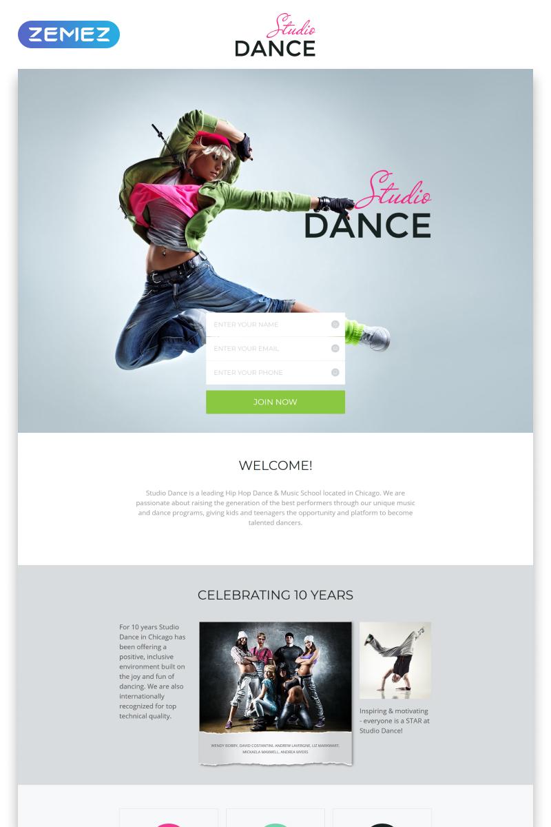 """""""Dance Studio - Special Education Clean HTML5"""" - адаптивний Шаблон цільової сторінки №55595"""