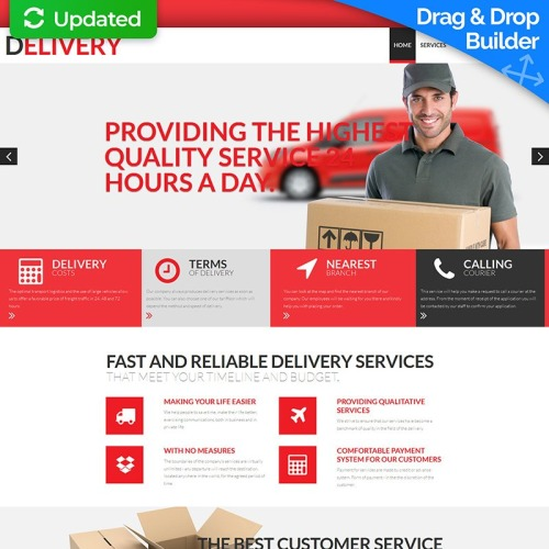 Delivery  - MotoCMS 3 Template based on Bootstrap