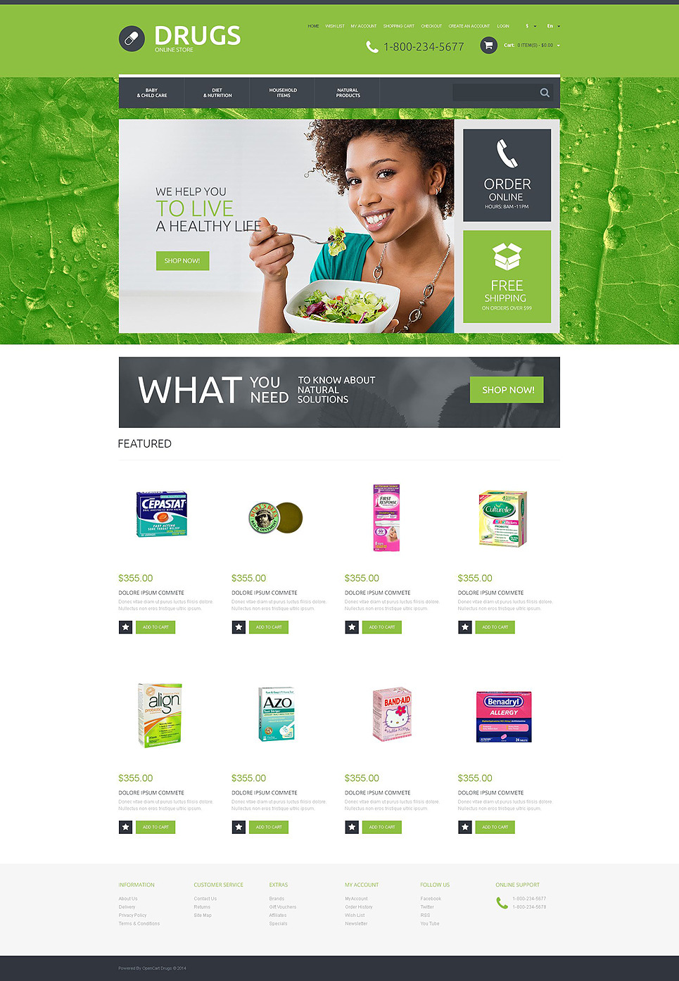 Drugs OsCommerce Template New Screenshots BIG