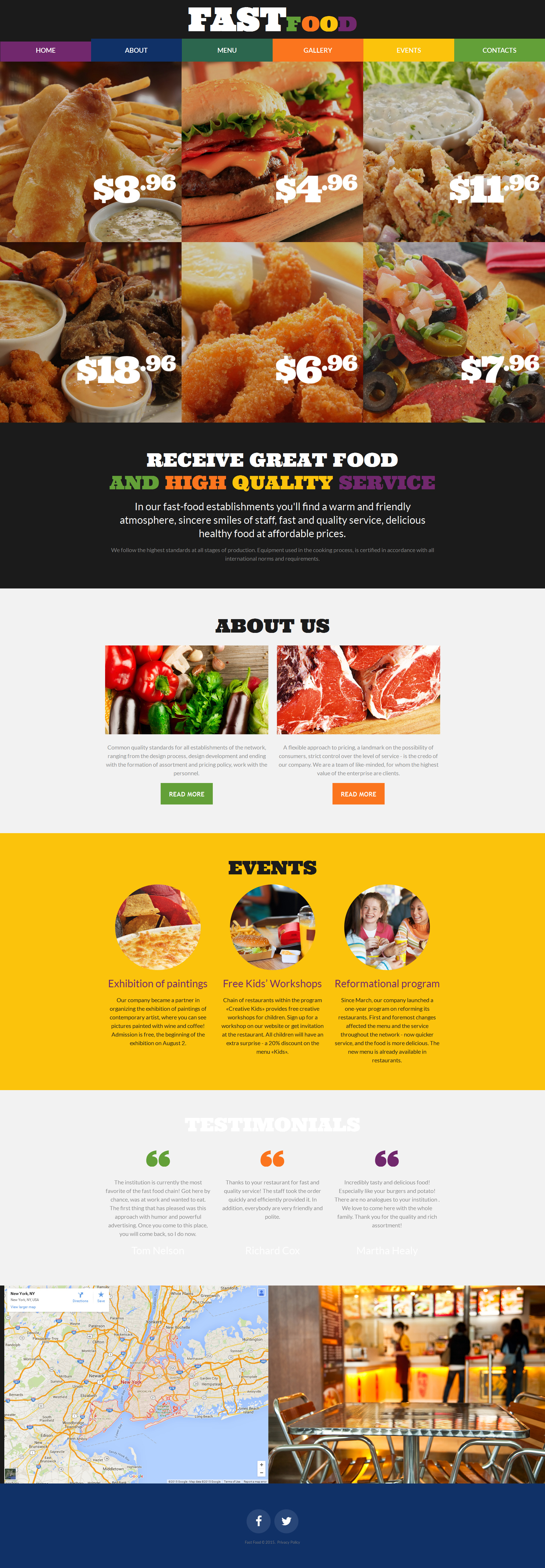 Build A Website For Fast Food Restaurant Restaurant Responsive