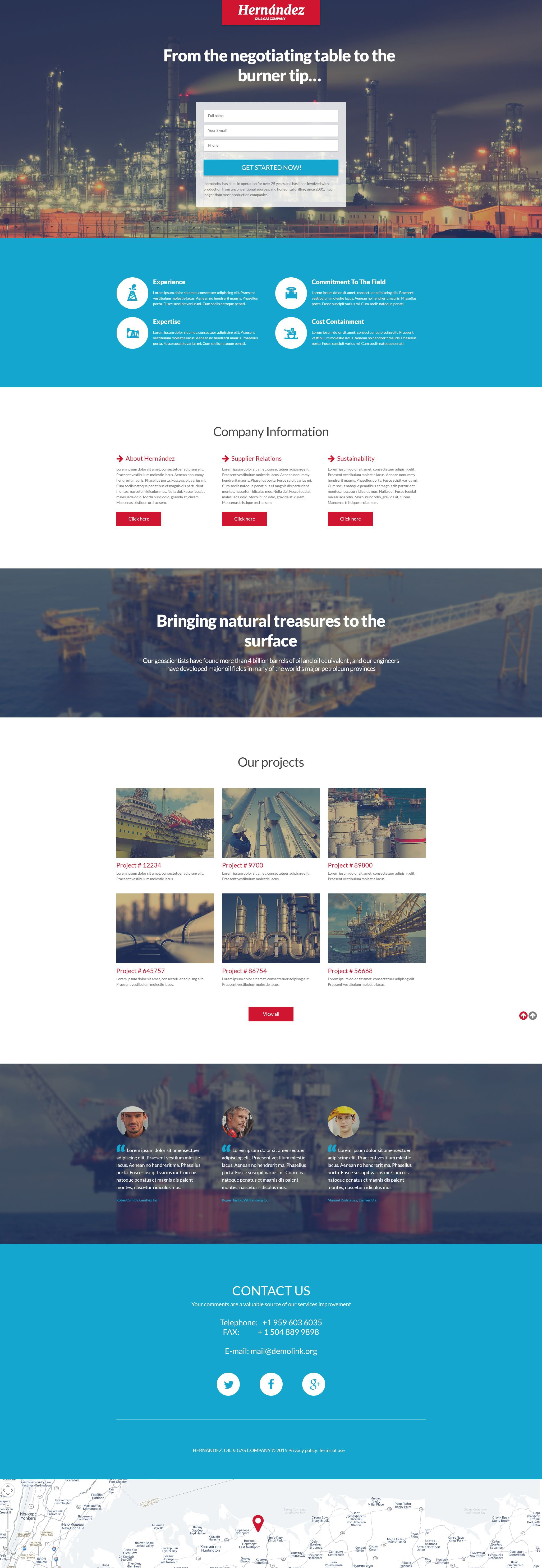 Gas & Oil Responsive Landing Page Template #55575