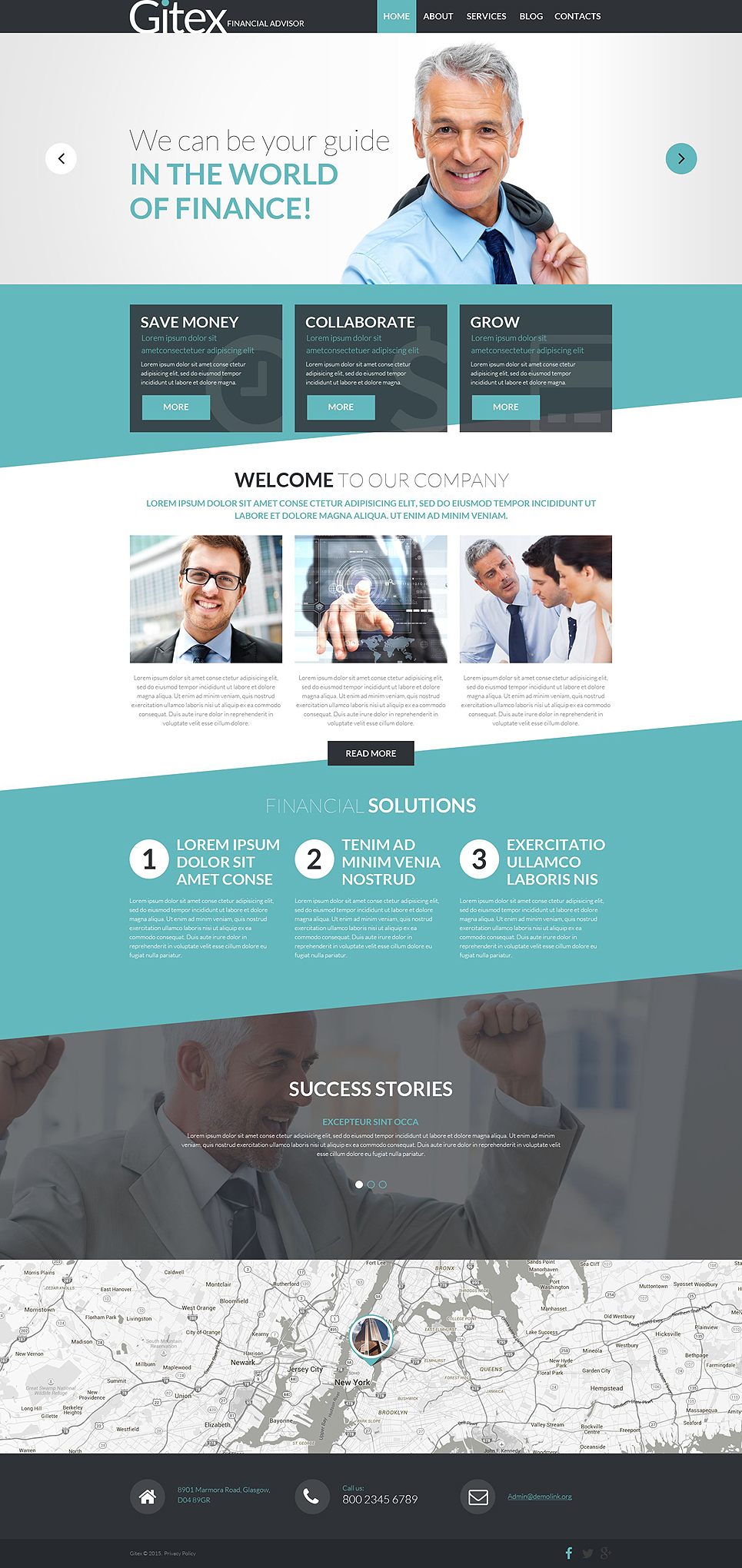 Financial advisor joomla template for Templat monster