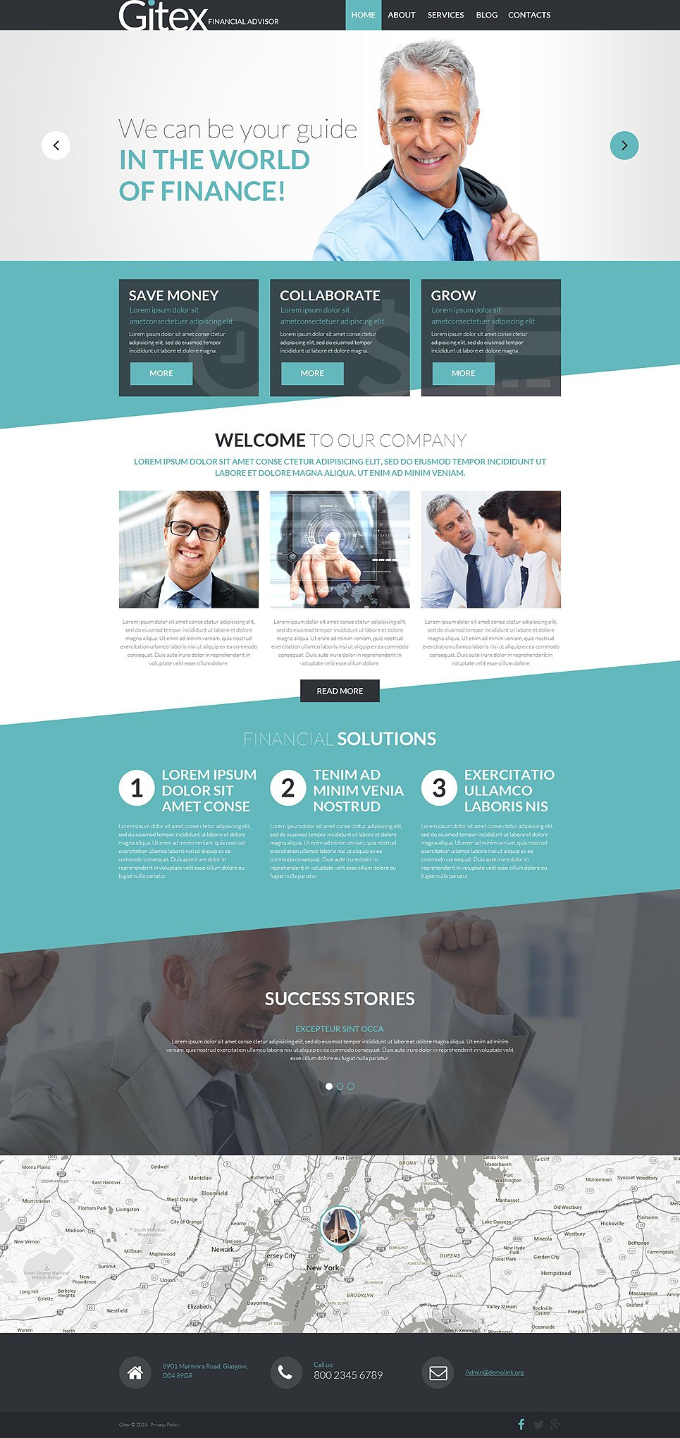 Financial advisor joomla template for Template monste