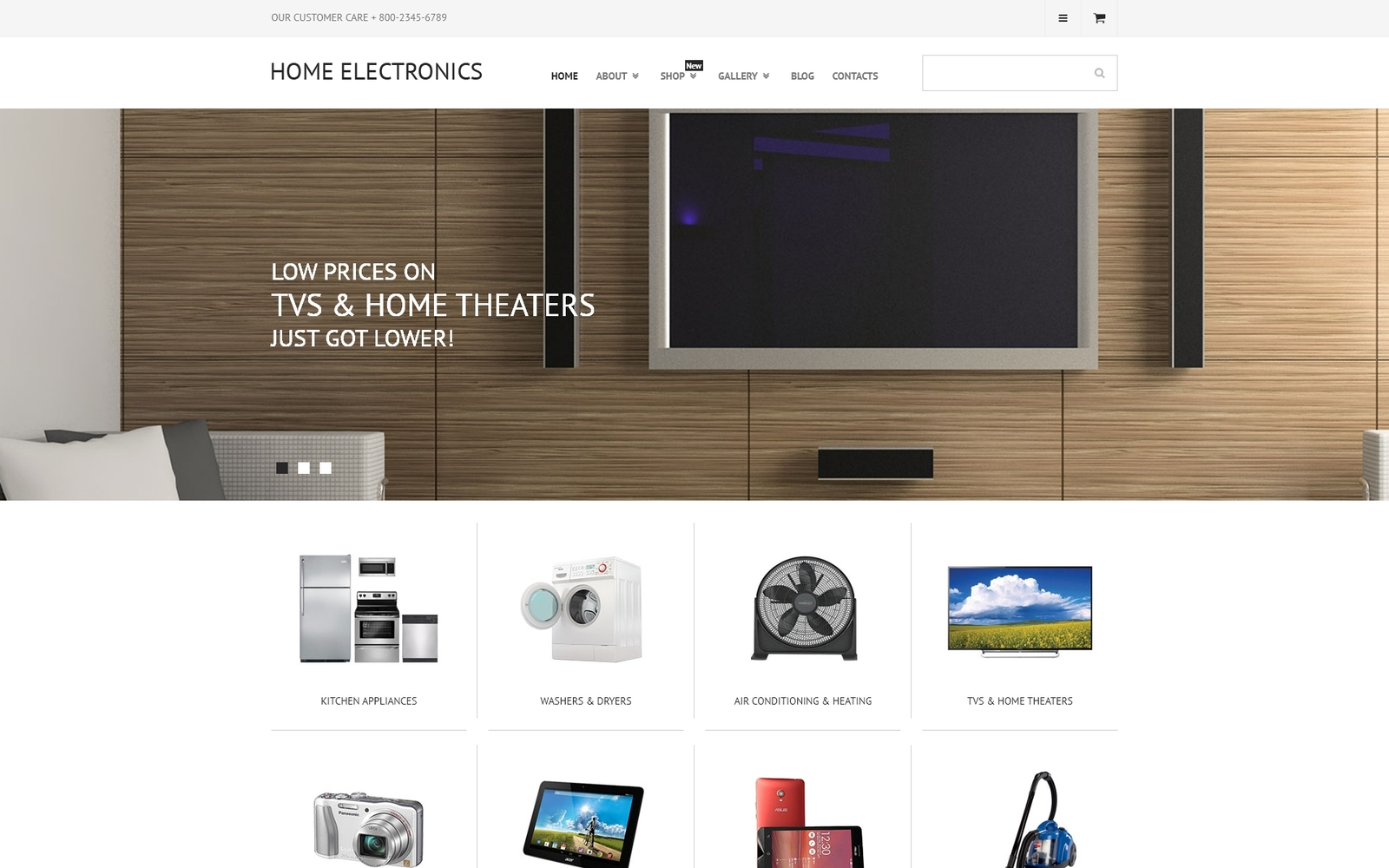 """Home Electronics"" Responsive WooCommerce Thema №55574"