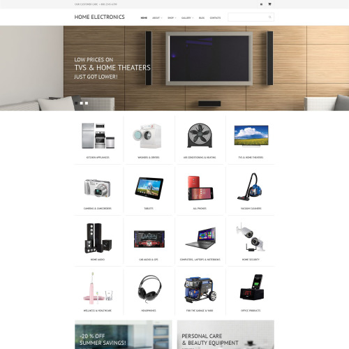 Home Electronics - WooCommerce Template based on Bootstrap