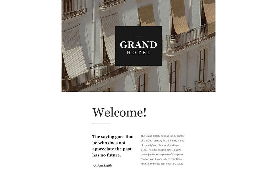 hotels responsive newsletter template 55545. Black Bedroom Furniture Sets. Home Design Ideas