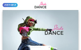 """Landing Page Template namens """"Dance Studio - Special Education Clean HTML5"""""""