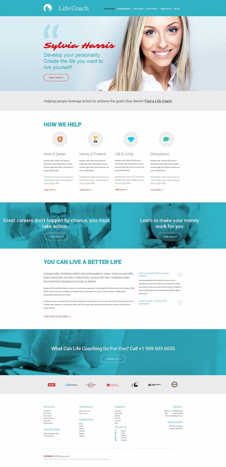 Life Coach Responsive Moto CMS 3 Template New Screenshots BIG