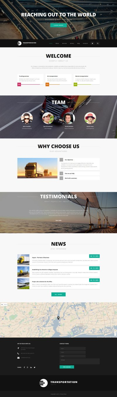 Logistics Agency Drupal Template