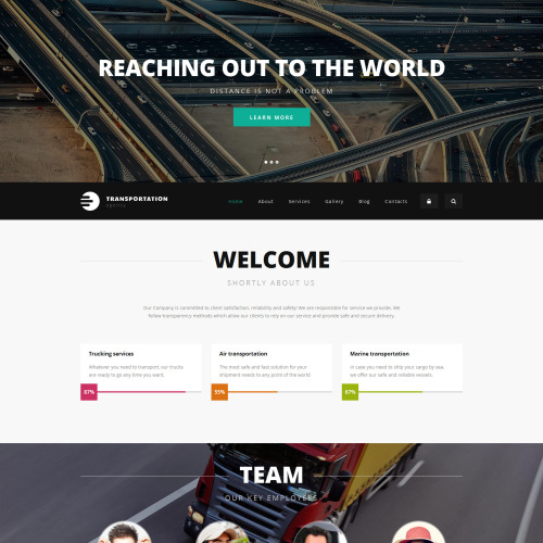 Logistics Agency - Responsive Drupal Template