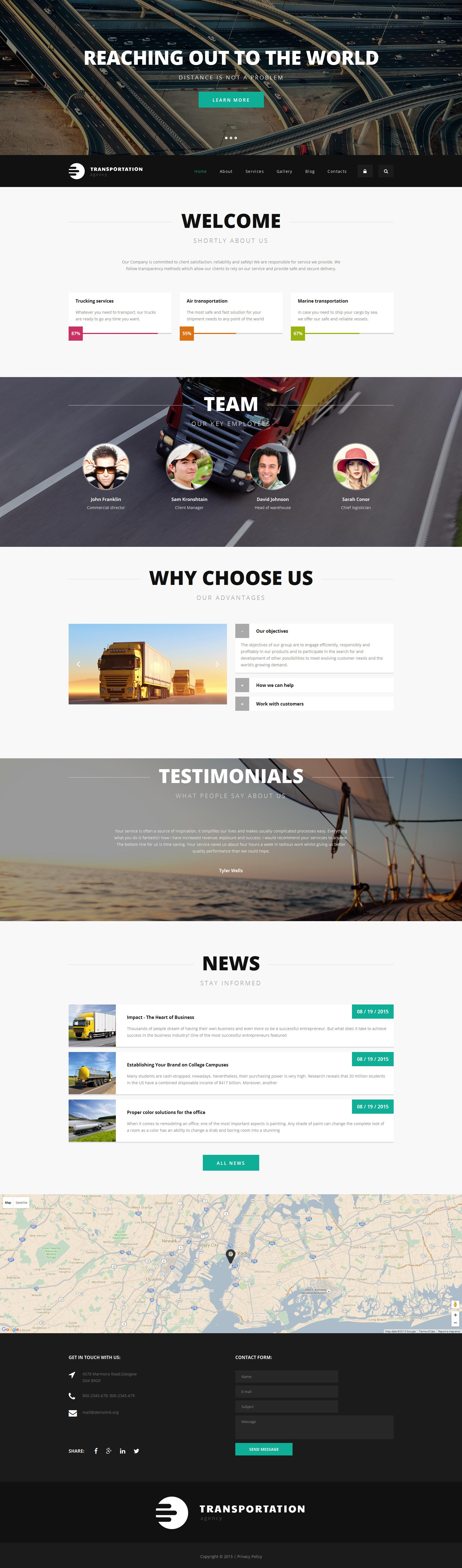 """Logistics Agency"" Responsive Drupal Template №55556"