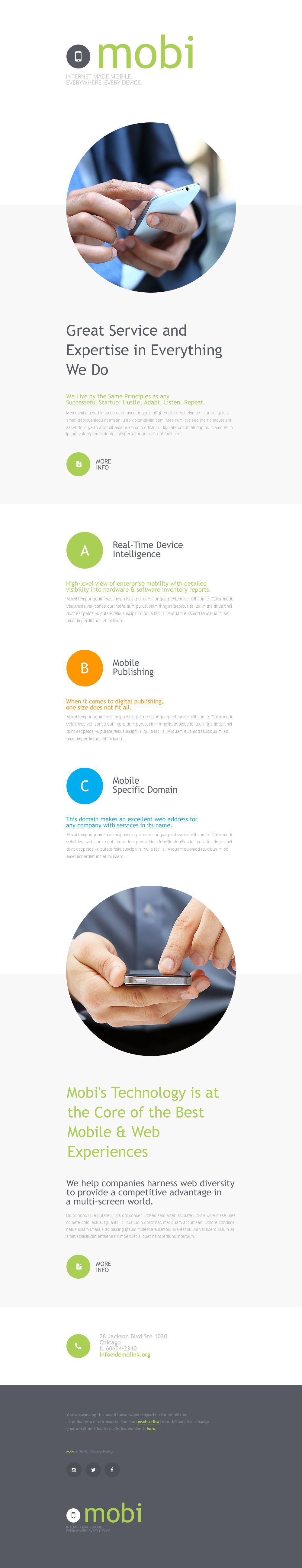 Modèle Bulletin adaptatif pour site de communications #55584