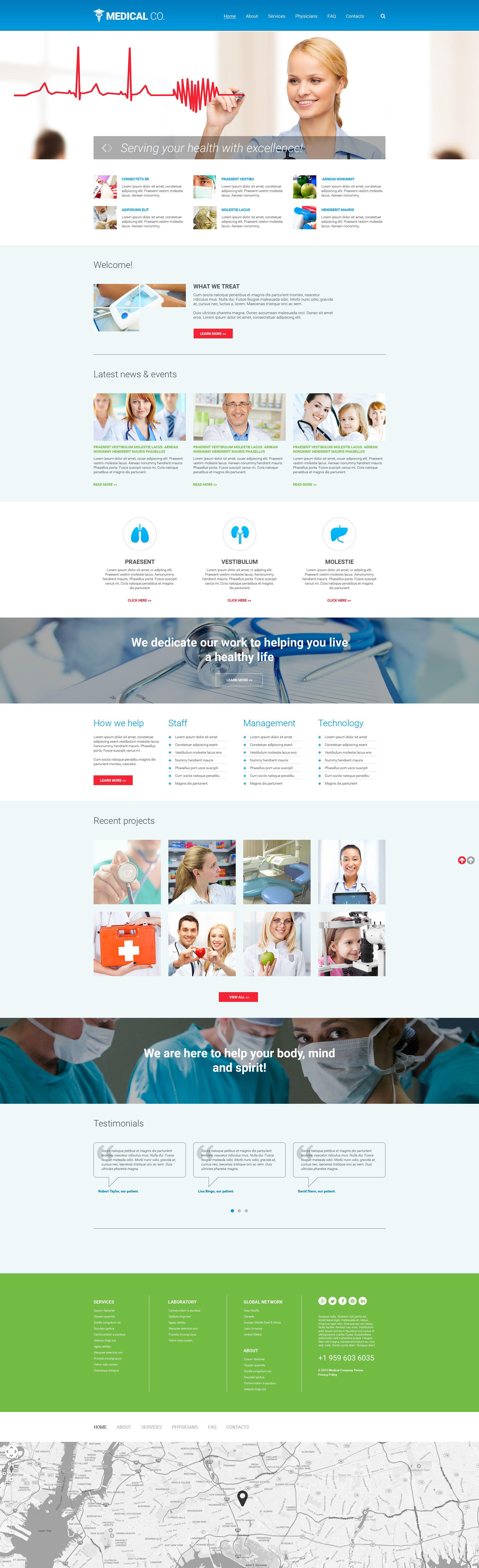 Modèle Web adaptatif pour site médical #55567