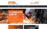 "Modello Siti Web Responsive #55571 ""Steel & Fabrication Industry - Steelworks Clean Responsive HTML"""