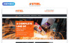 "Modello Siti Web Responsive #55571 ""Steel & Fabrication Industry - Steelworks Clean Responsive HTML"" Screenshot grande"