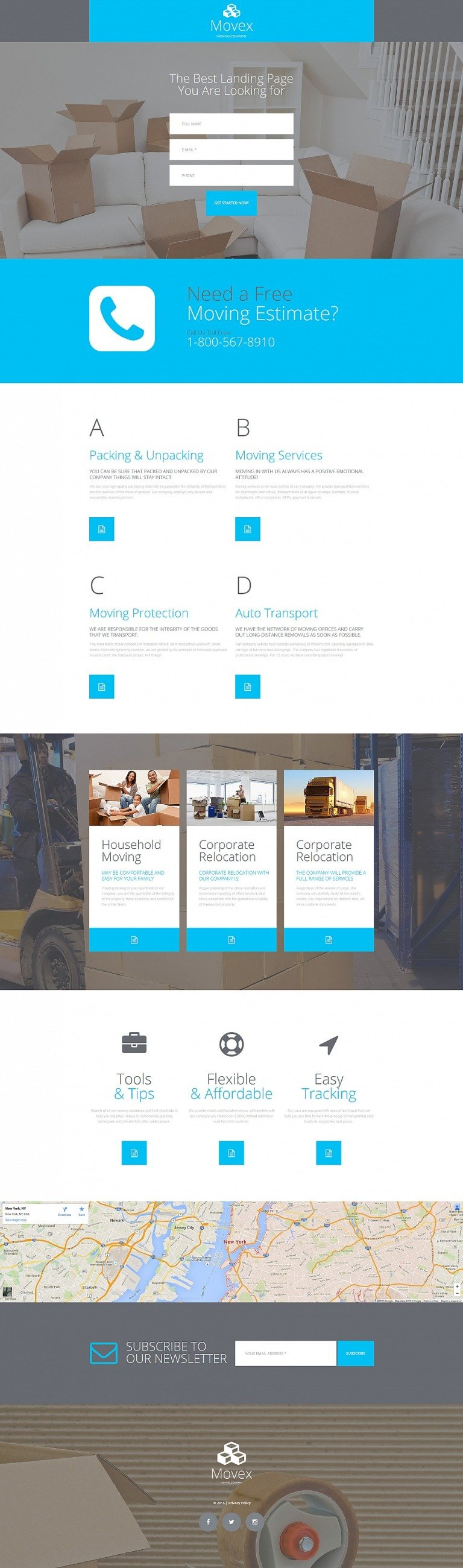Moving Company Responsive Moto CMS 3 Template New Screenshots BIG