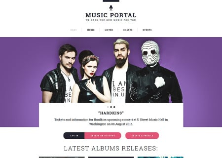 Music Portal Responsive