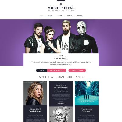 54+ Best Music Website Templates