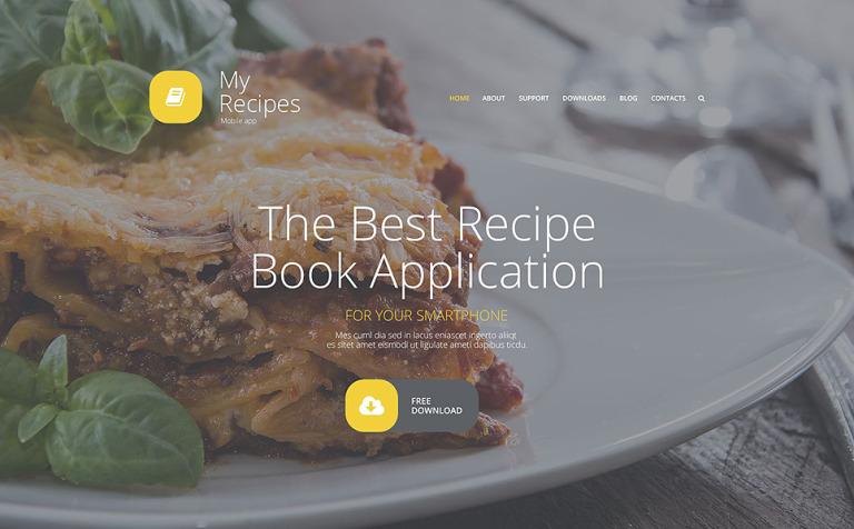 My Recipes Joomla Template