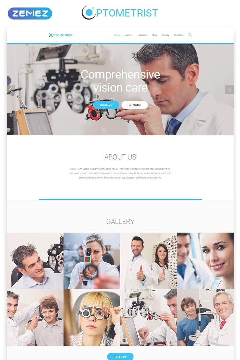 """Optometrist - Medical Clinic Responsive Clean HTML"" 响应式网页模板 #55570 - 截图"