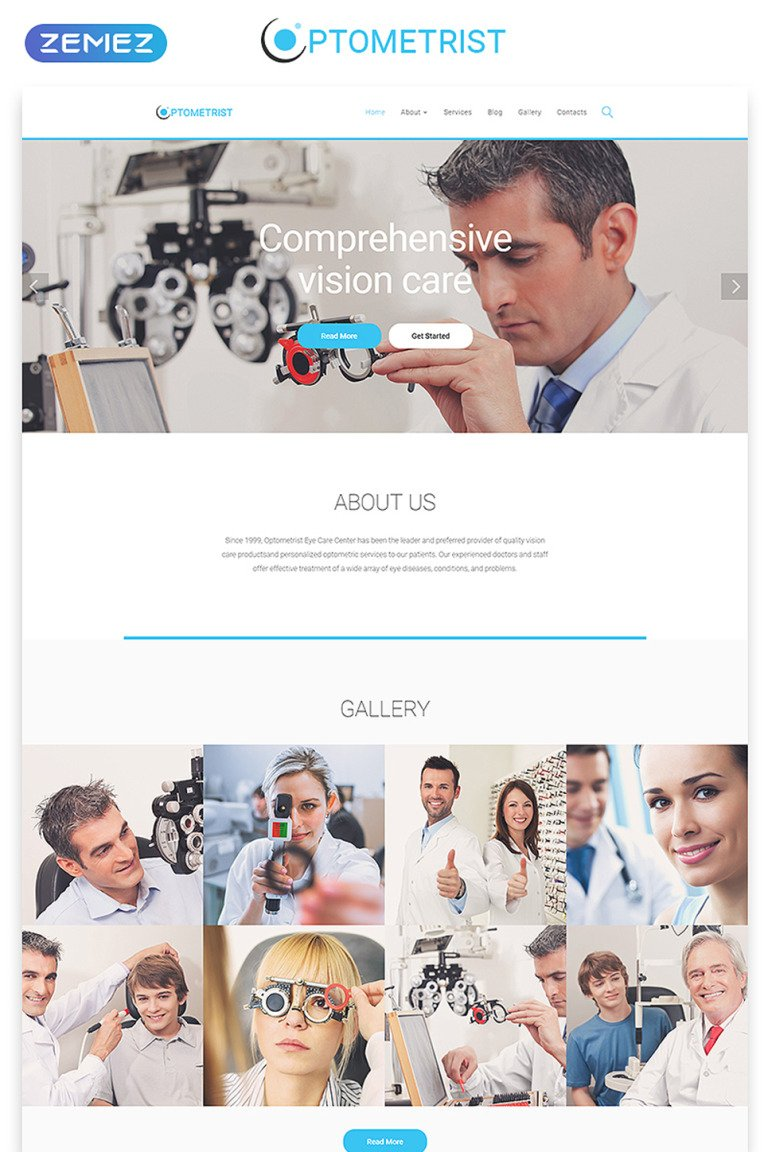 Optometrist Website Template New Screenshots BIG