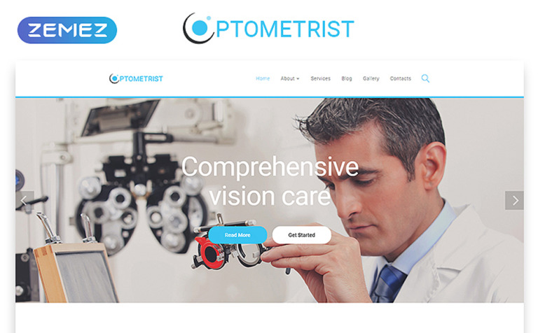 Optometrist Website Template