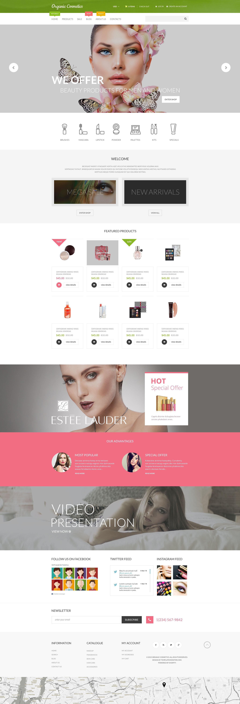 Organic Cosmetics Tema de Shopify №55549 - screenshot