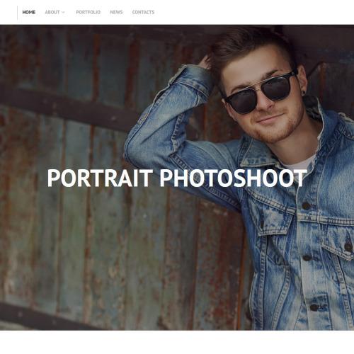 Portrait Photoshoot - MotoCMS 3 Photography Template