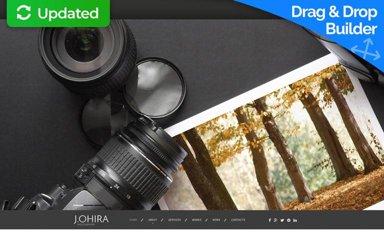Photographer Portfolio Responsive Moto CMS 3 Template