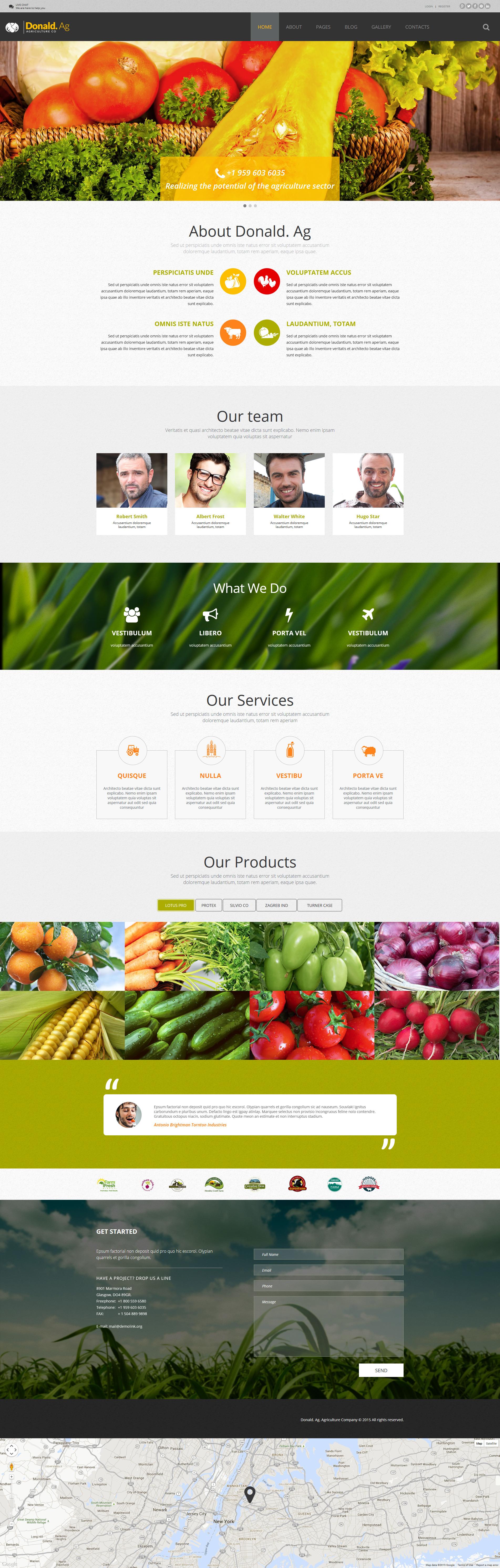 """Plantilla Joomla """"Agricultura"""" #55599"""