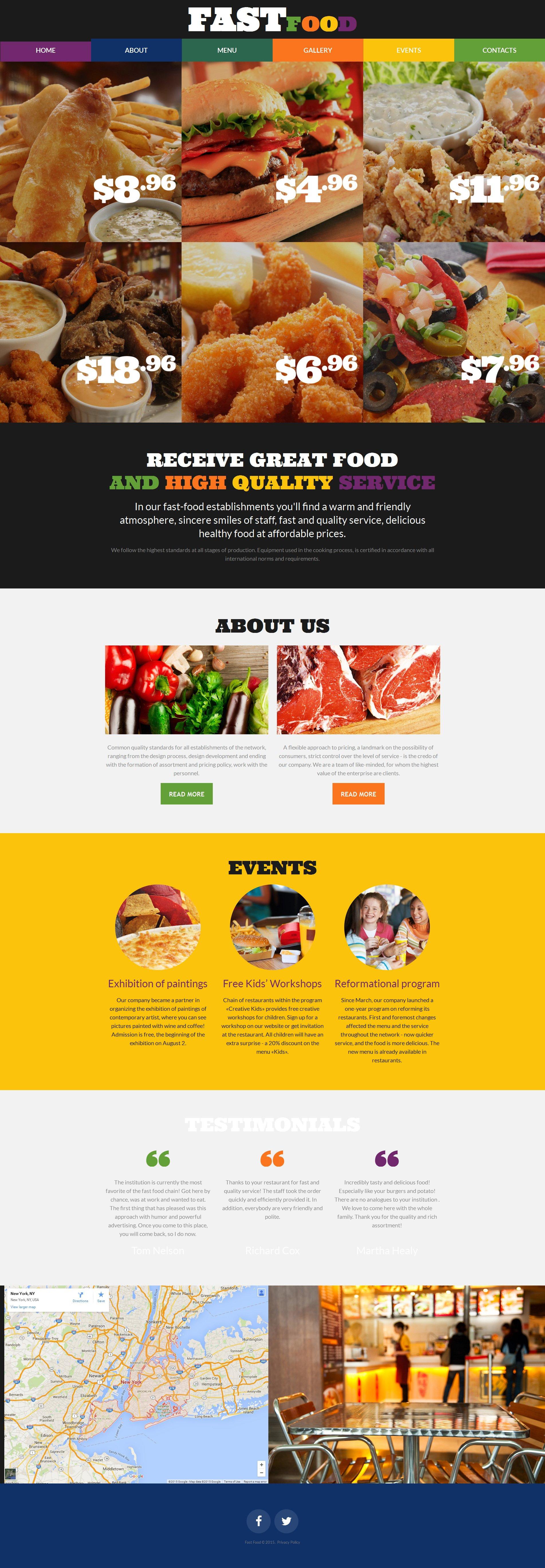Plantilla Moto CMS 3 #55508 para Sitio de Restaurantes de comida ...