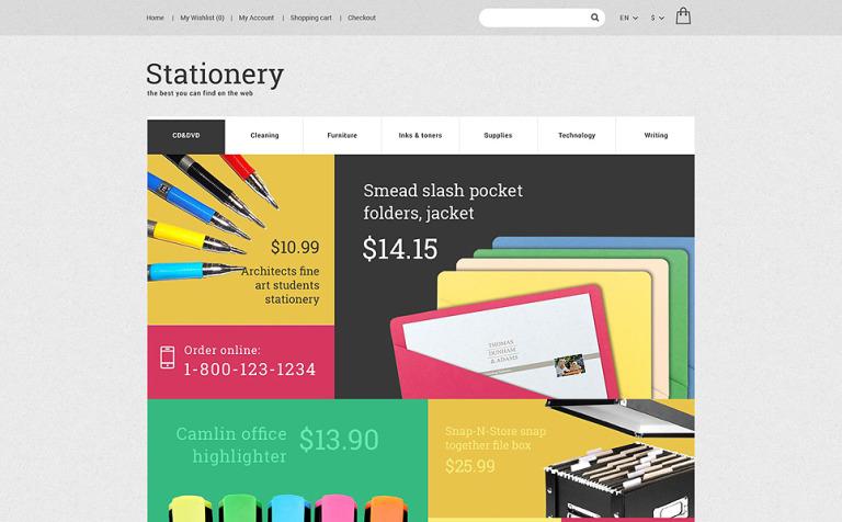 Plantilla OpenCart #55593 para Sitio de Papelería