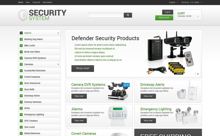 Plantilla osCommerce #55554 para Sitio de Seguridad